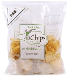 Chips puur (zoutloos)