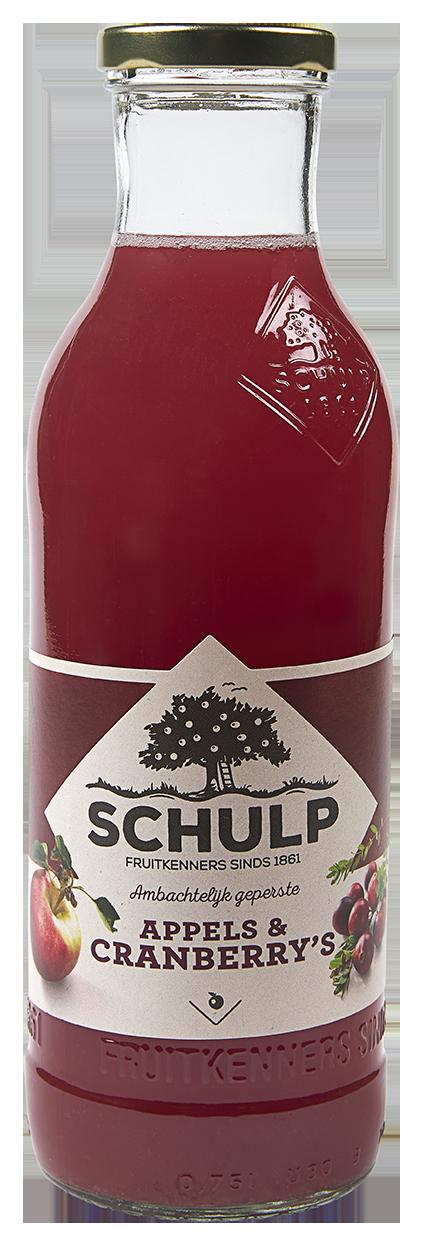 Sap schulp appels & cranberry 0.75l