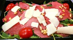Carpaccio salade pesto