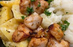 Gezonde maaltijd bloemkool-kip