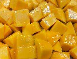 Mango by air gesneden
