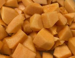 Meloen canthaloup gesneden