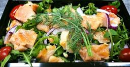 Zalm salade pesto