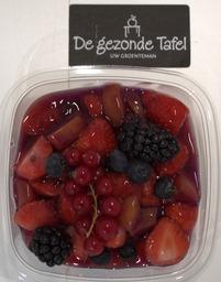 Roodfruit salade met Grütze