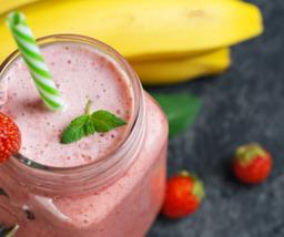 Aardbei/banaan smoothie