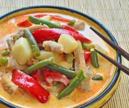 Stoofgroenten in rode curry (vegetarisch)