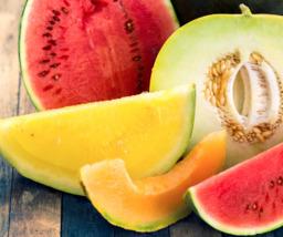 Meloen gesneden