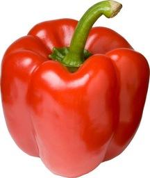 Biologische rode paprika