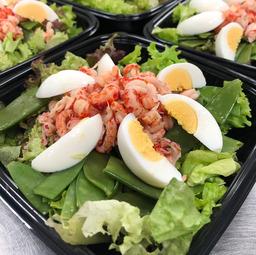 Maaltijd Salade  met rivierkreeftjes