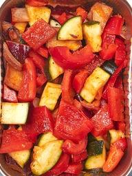 Roerbakgroente italie rood
