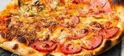 Groente ham/salami pizza