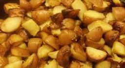 Roseval aardappelen gesneden