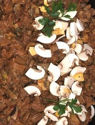 stoofvlees met champignons 400 gram
